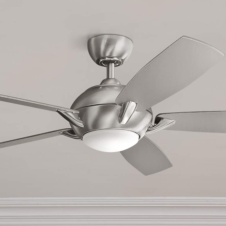 54 Quot Kichler Geno Brushed Stainless Steel Led Ceiling Fan