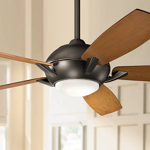"54"" Kichler Geno Olde Bronze LED Ceiling Fan"