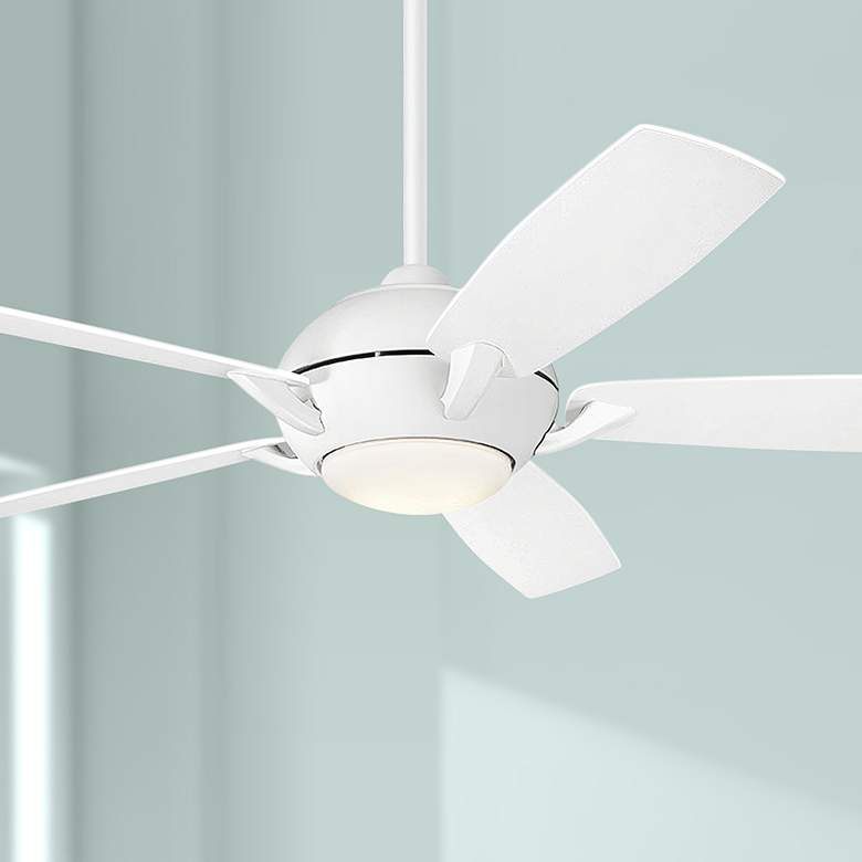 "54"" Kichler Geno Matte White LED Ceiling Fan"