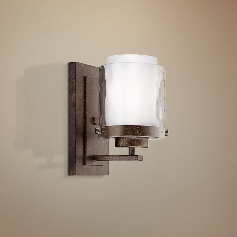 "Craftmade Kenswick 9"" High Peruvian Bronze Wall Sconce"