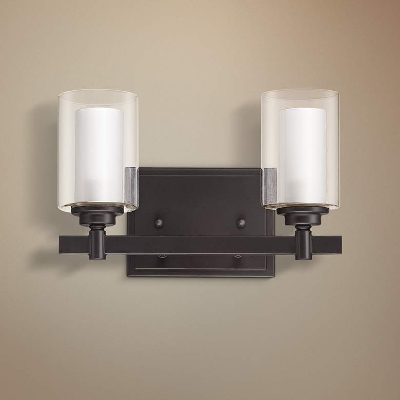 "Craftmade Celeste 7"" High Espresso 2-Light Wall Sconce"