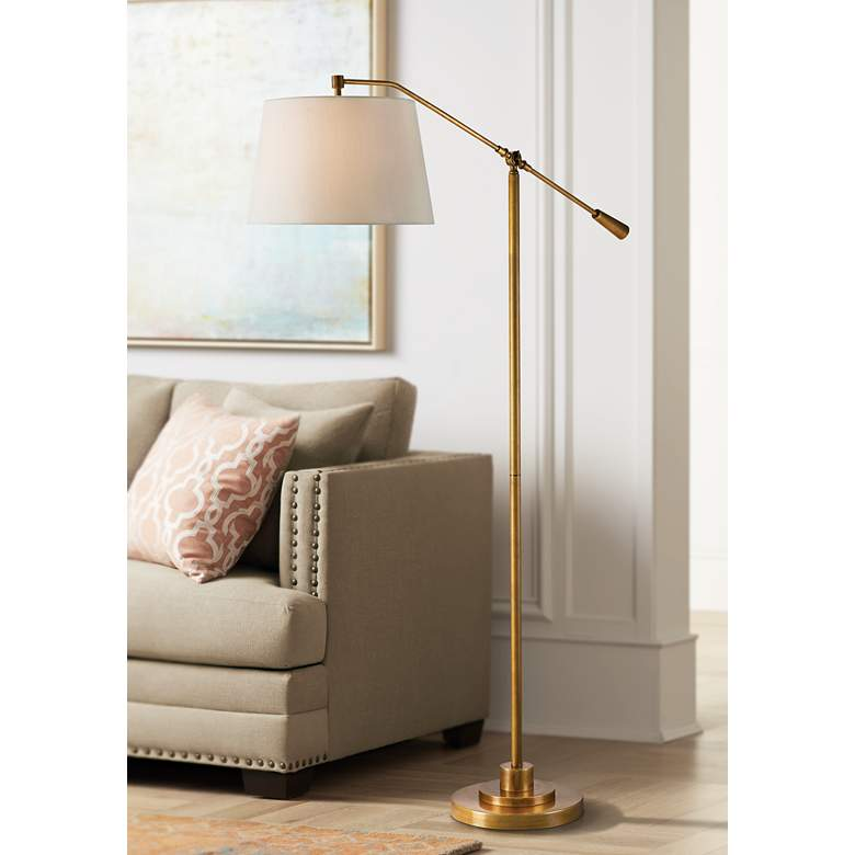 Currey and Company Maxstoke Brass Adjustable Floor Lamp