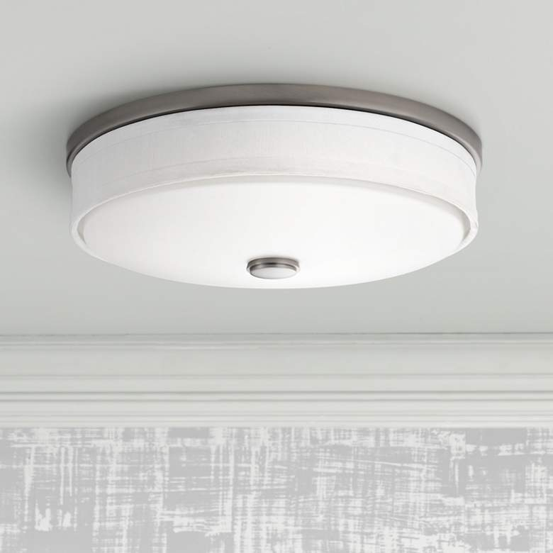 "Kichler Santiago 13"" Wide Brushed Nickel LED Ceiling"