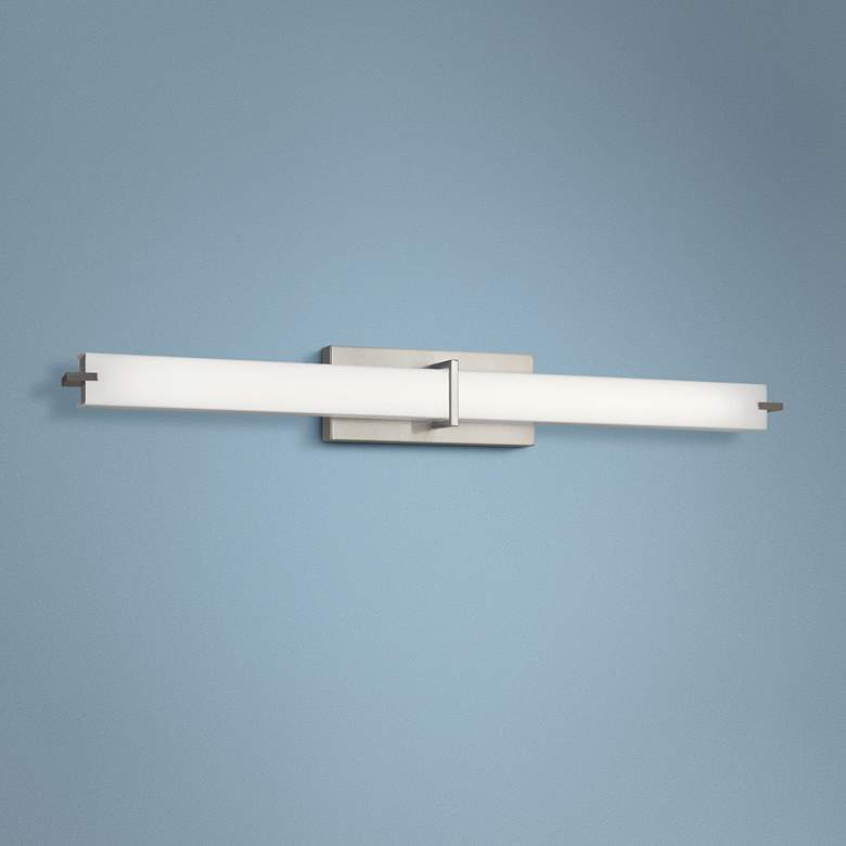 "Kichler Zel 37 1/2""W Brushed Nickel Linear LED"