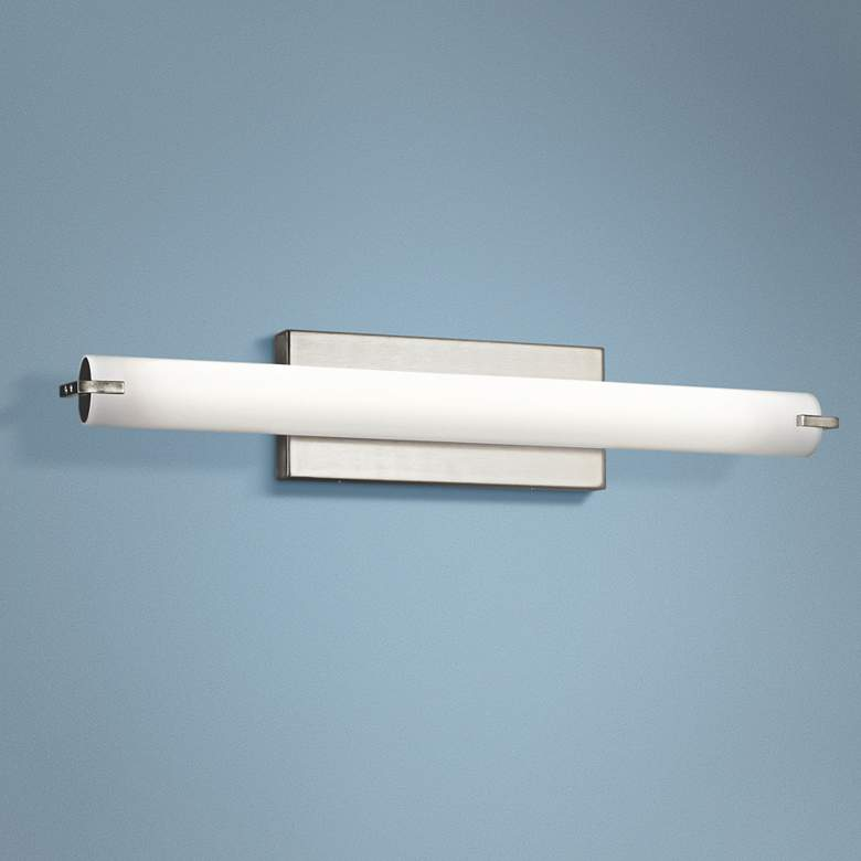 "Kichler Tor 25 1/2""W Brushed Nickel Linear LED Bath Light"