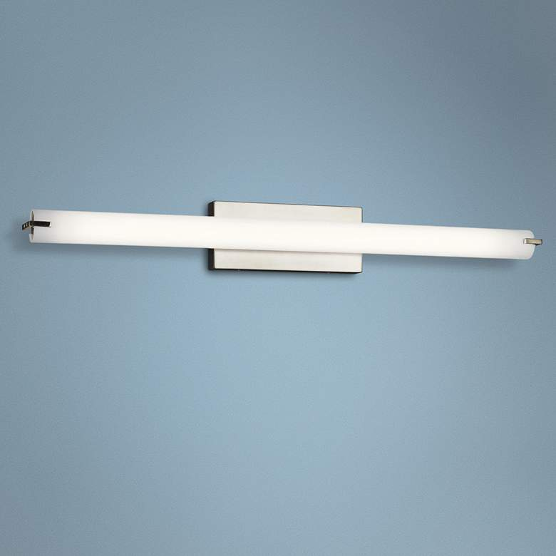 "Kichler Tor 37 1/4""W Brushed Nickel Linear LED"