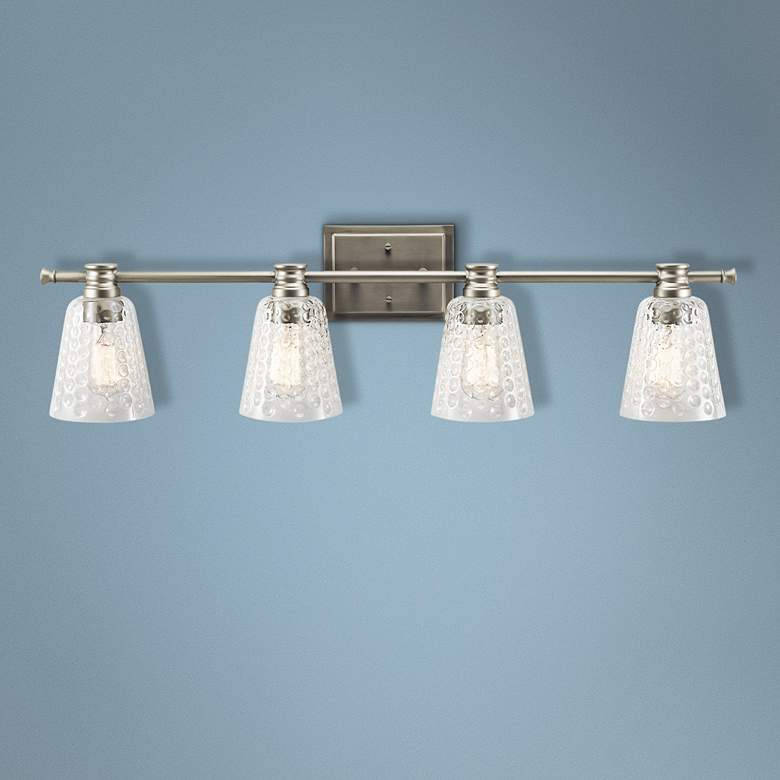 "Kichler Nadine 34 1/2""W Brushed Nickel 4-Light Bath"