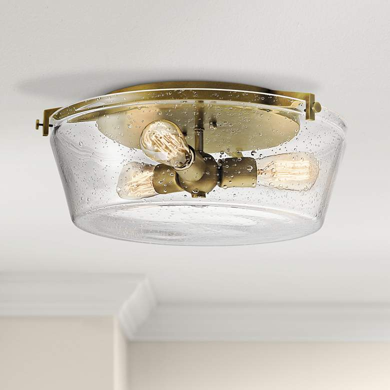 "Kichler Alton 18 1/2""W Natural Brass 3-Light Ceiling Light"