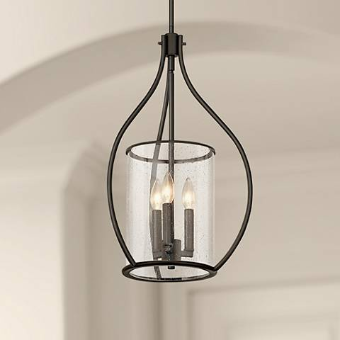 "Kichler Fiona 15 1/4"" Wide Olde Bronze 3-Light Foyer Pendant"