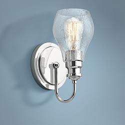 "Kichler Greenbrier 10 1/4"" High Chrome Wall Sconce"