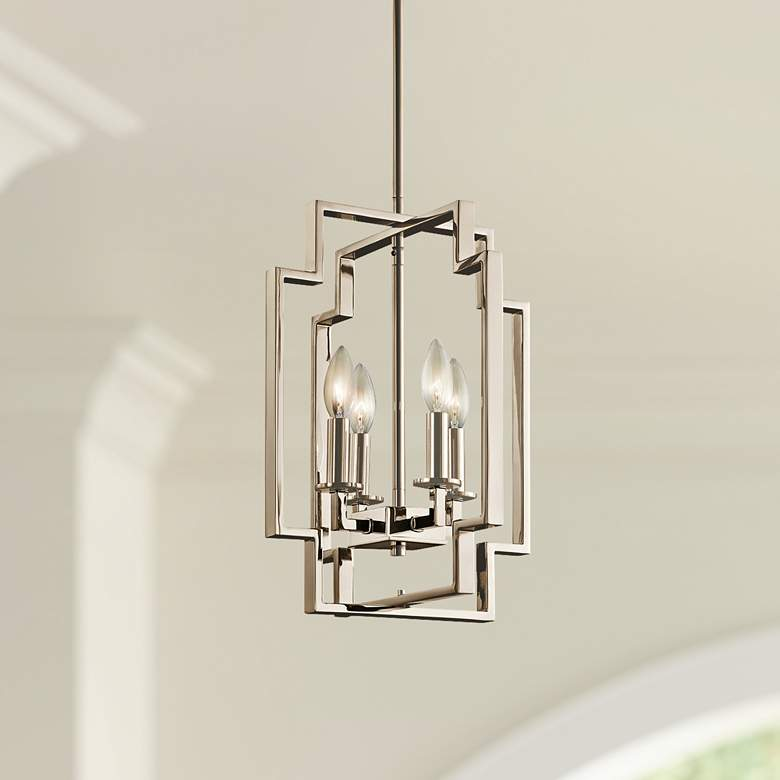 "Kichler Downtown Deco 12"" Wide Polished Nickel Foyer"
