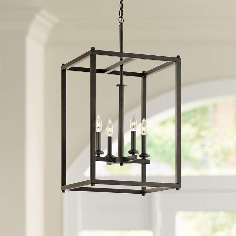 "Kichler Crosby 16"" Wide Olde Bronze 4-Light Foyer"