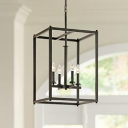 "Kichler Crosby 16"" Wide Olde Bronze 4-Light Foyer Pendant"