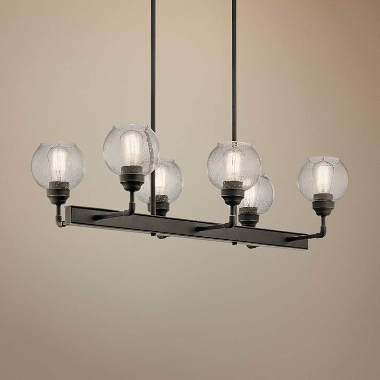 "Kichler Niles 32 1/4""W Olde Bronze 6-Light Linear"