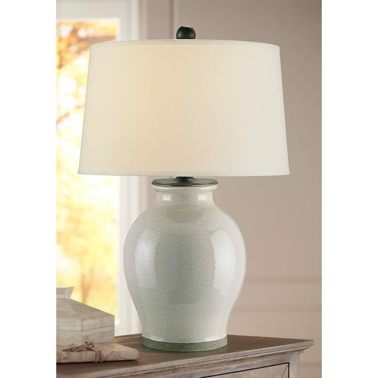 Currey and Company Fittleworth Feather Gray Table Lamp