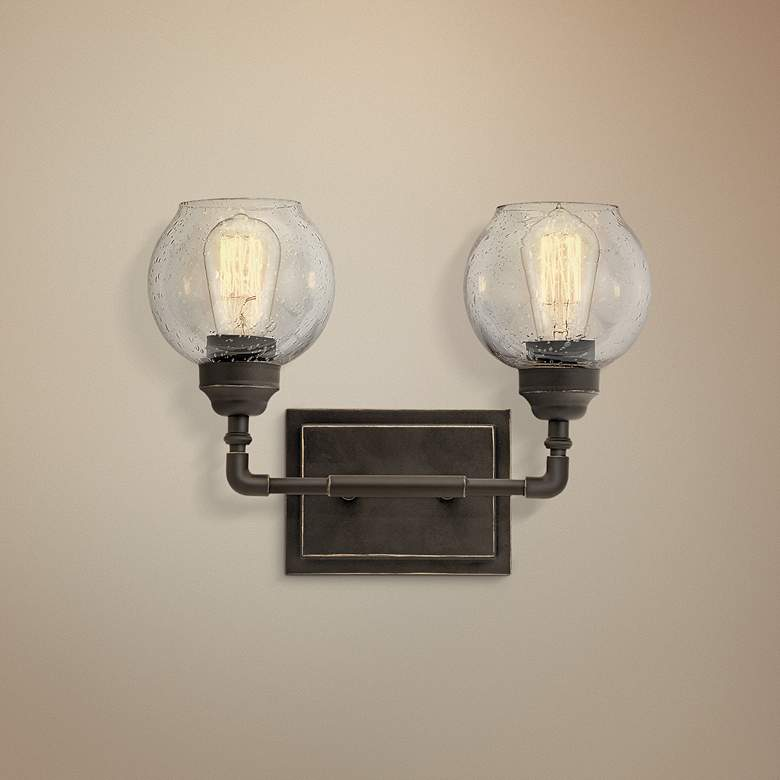 "Kichler Niles 10 3/4"" High Olde Bronze 2-Light"