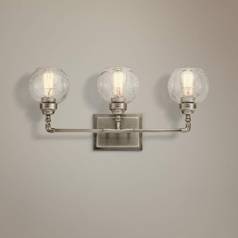 "Kichler Niles 24"" Wide Antique Pewter 3-Light Bath"