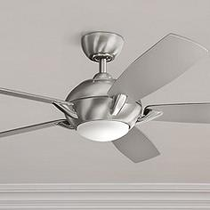 Kichler hand held remote control ceiling fans lamps plus 54 kichler geno brushed stainless steel led ceiling fan aloadofball Choice Image