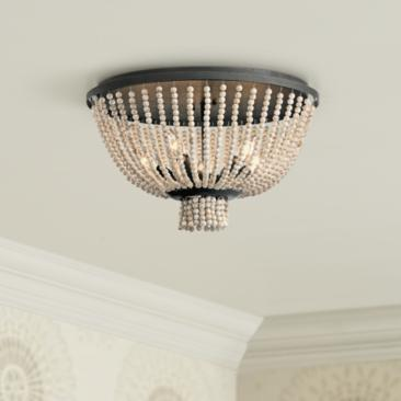 "Kichler Brisbane 18""W Distressed Black 5-Light Ceiling Light"