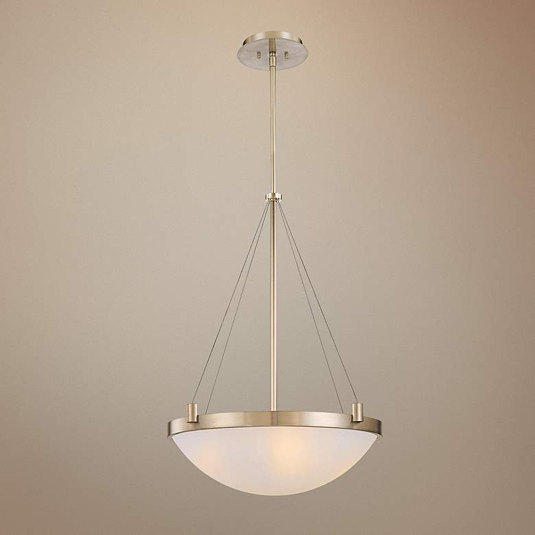 "George Kovacs Frosted Glass 21 1/2"" Wide Pendant Light"
