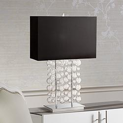 Possini Euro Design Clear Bubble Cascade Table Lamp