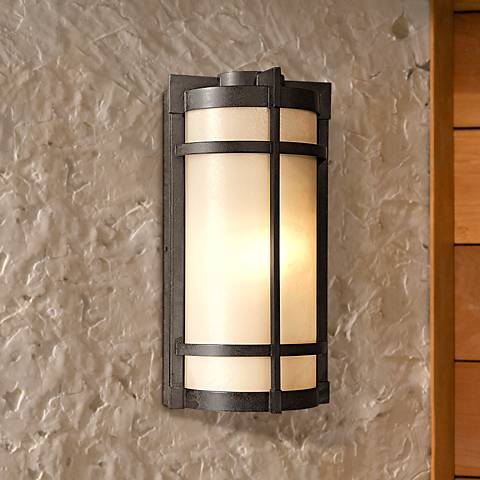 "Mirador 17"" French Bronze Finish Outdoor Wall Light"