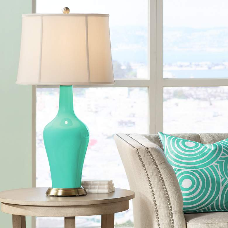 Turquoise Anya Designer Table Lamp by Color Plus