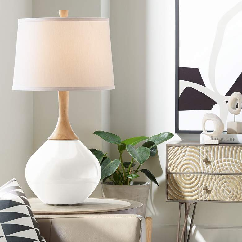Winter White Wexler Table Lamp