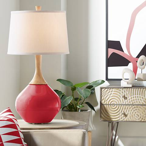 Ribbon Red Wexler Table Lamp