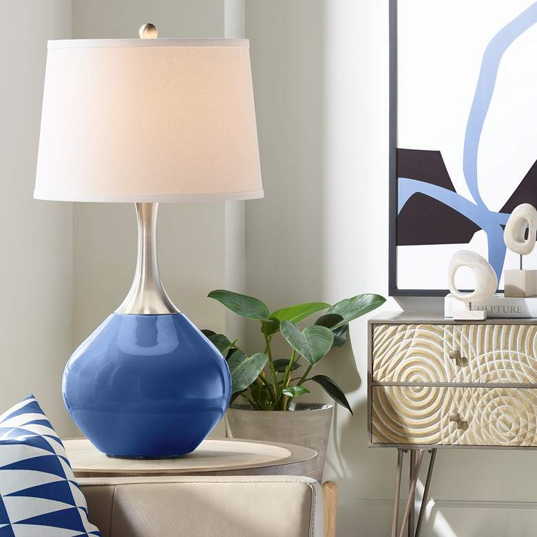 Monaco Blue Spencer Table Lamp