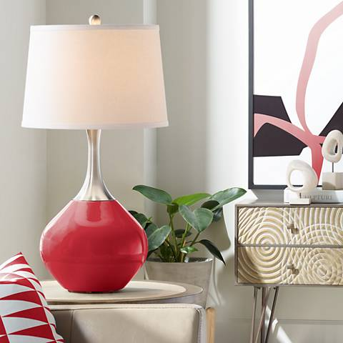 Ribbon Red Spencer Table Lamp