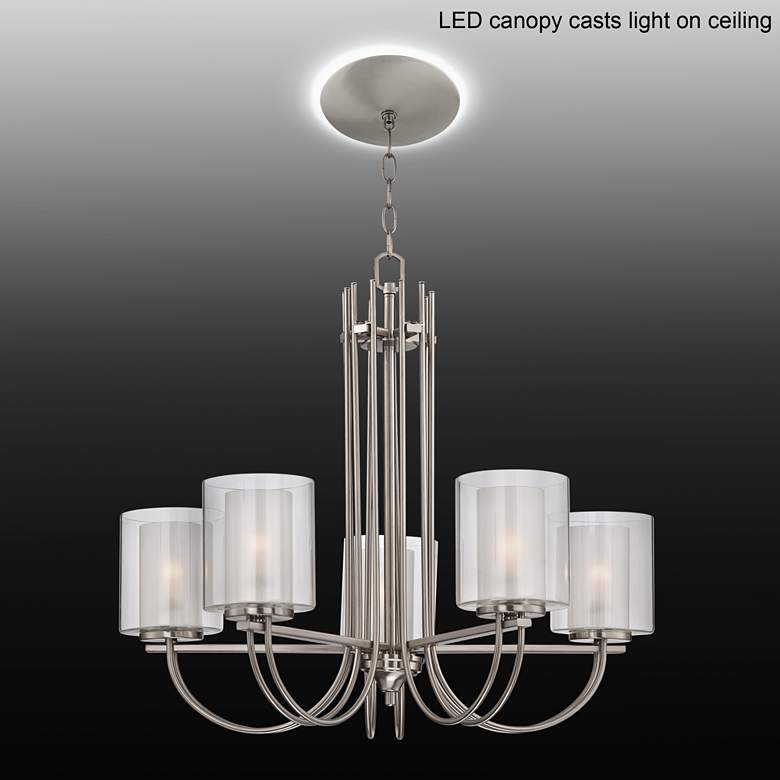 "Melody 26 3/4""W Brushed Nickel Chandelier with LED"