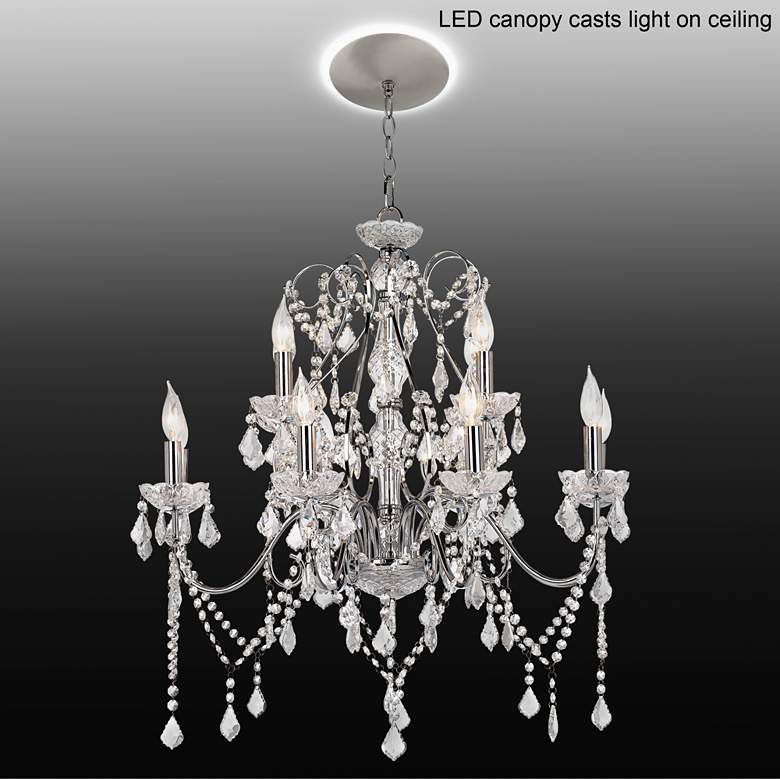 "Grace 30"" Wide Crystal 12-Light Chandelier with LED"