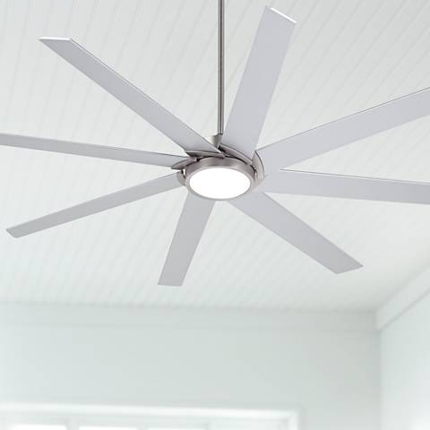 "65"" Destination® Possini Brushed Nickel LED Ceiling Fan"