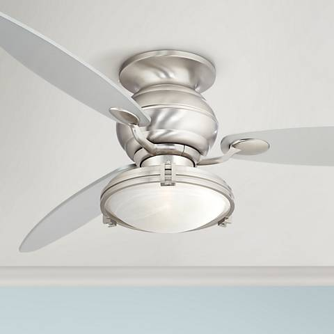 "60"" Spyder ™ Hugger Marbleized Glass Ceiling Fan"