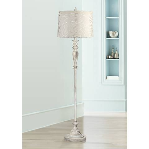 Silver Circles Vintage Chic Floor Lamp