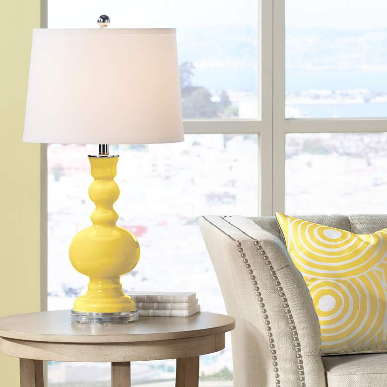 Lemon Zest Apothecary Table Lamp