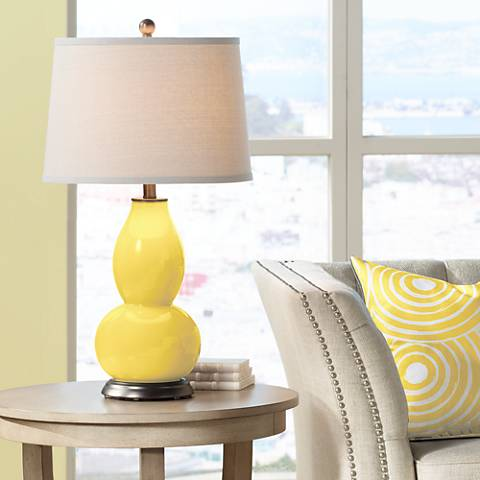 Lemon Zest Double Gourd Table Lamp