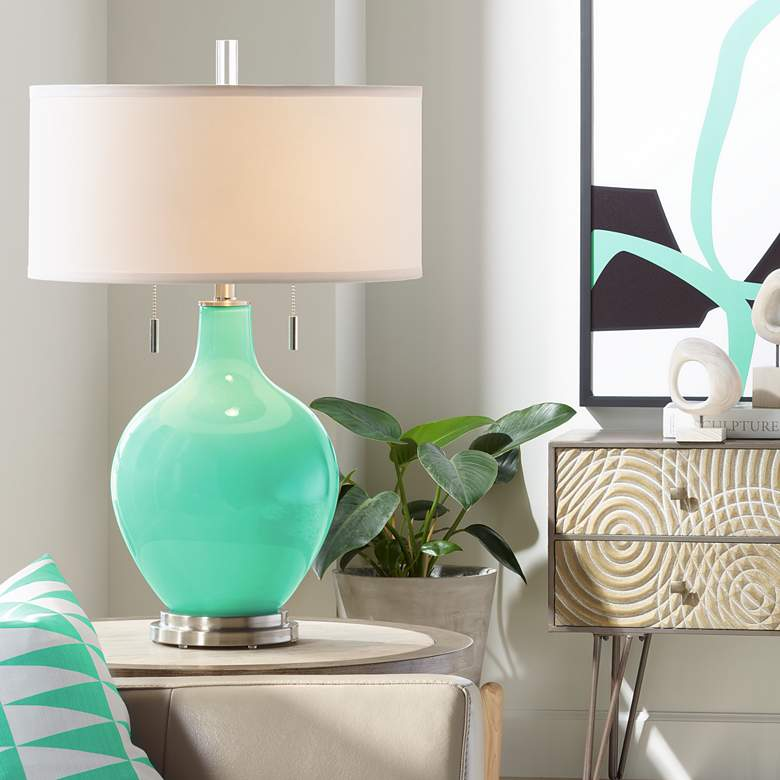 Turquoise Toby Table Lamp
