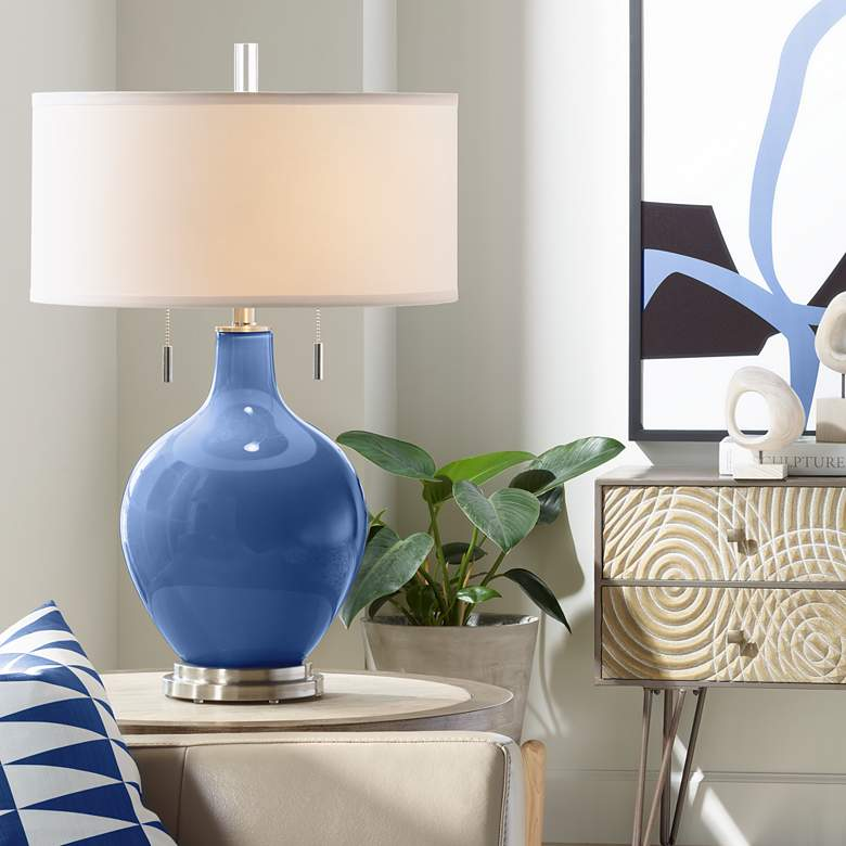 Monaco Blue Toby Table Lamp