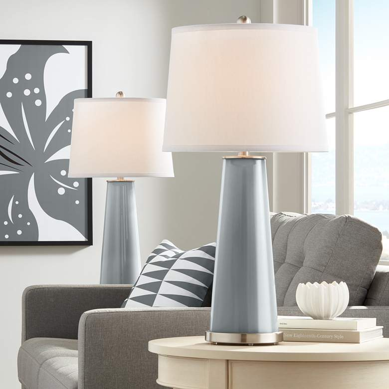 Software Gray Leo Table Lamps - Set of