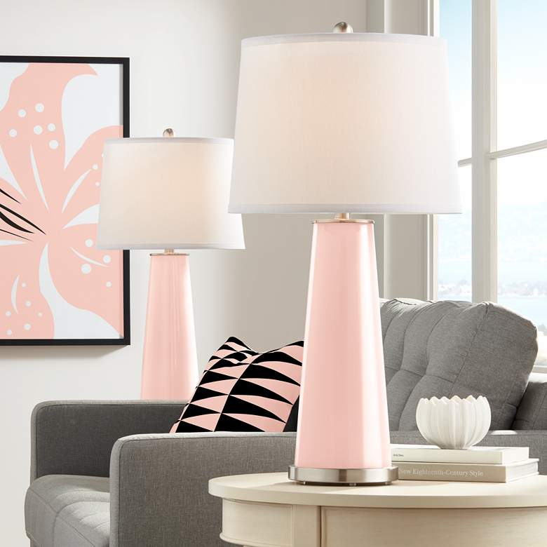 Rose Pink Leo Table Lamp Set of 2
