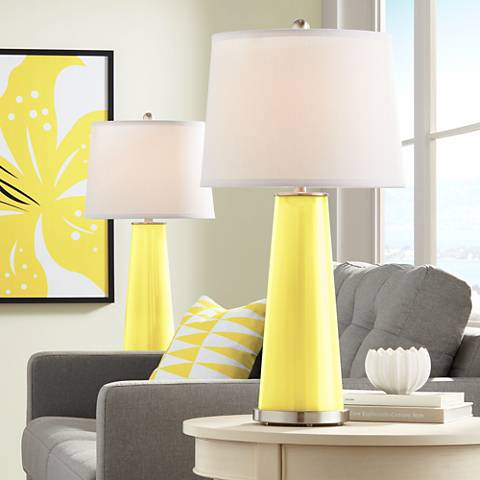 Lemon Twist Leo Table Lamp Set of 2