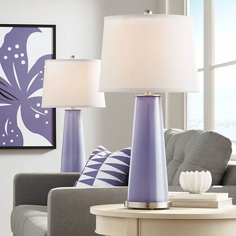 Purple Haze Leo Table Lamp Set of 2