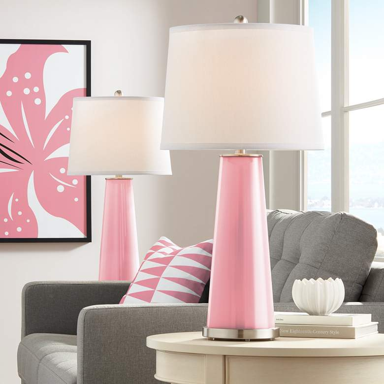 Haute Pink Leo Table Lamp Set of 2