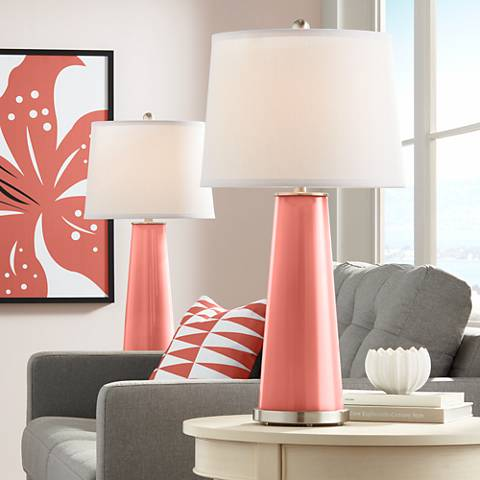 Coral Reef Leo Table Lamp Set of 2