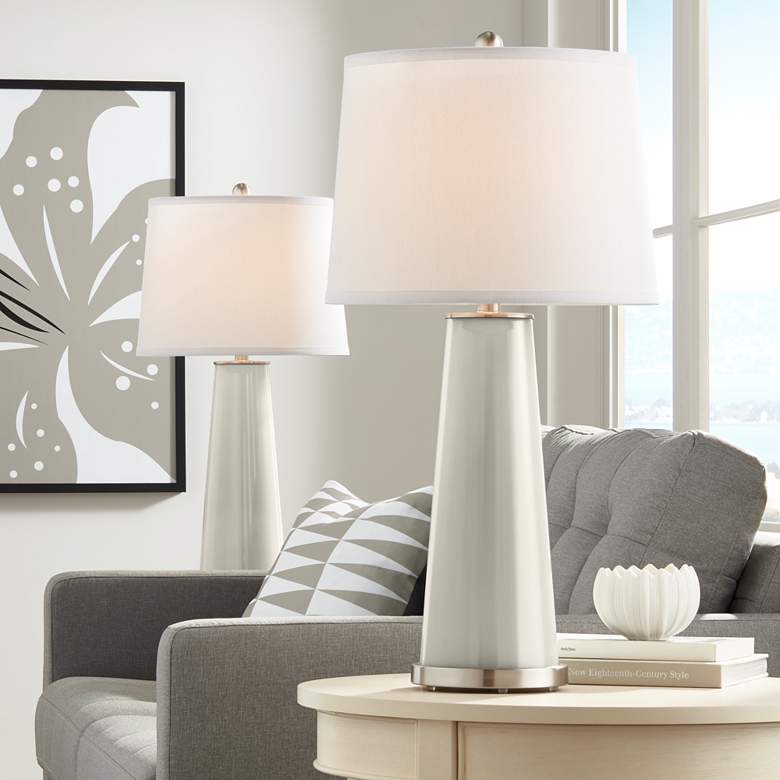 Requisite Gray Leo Table Lamp Set of 2