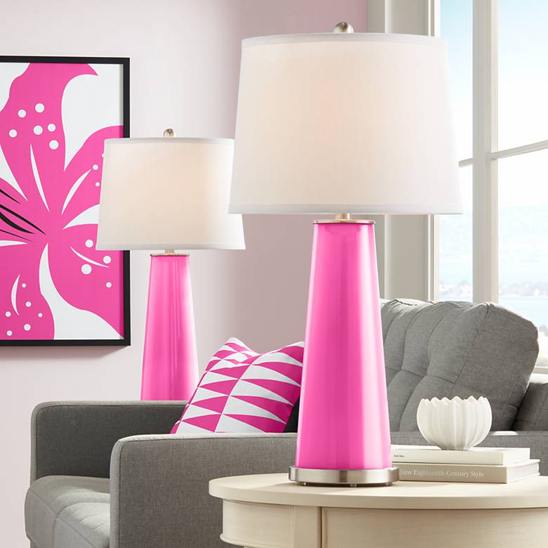 Blossom Pink Leo Table Lamp Set of 2