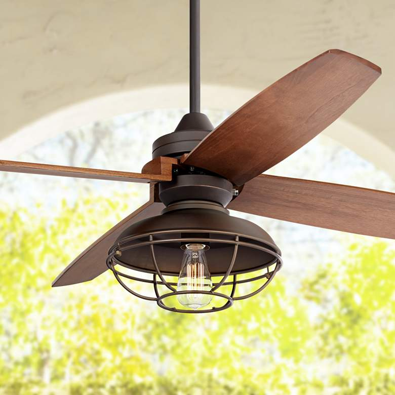 "52"" Casa Vieja Impel Franklin Park Bronze Ceiling Fan"