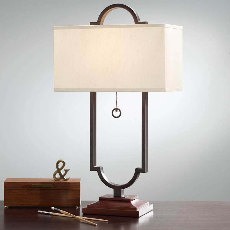 Possini Euro Simon Iron Table Lamp